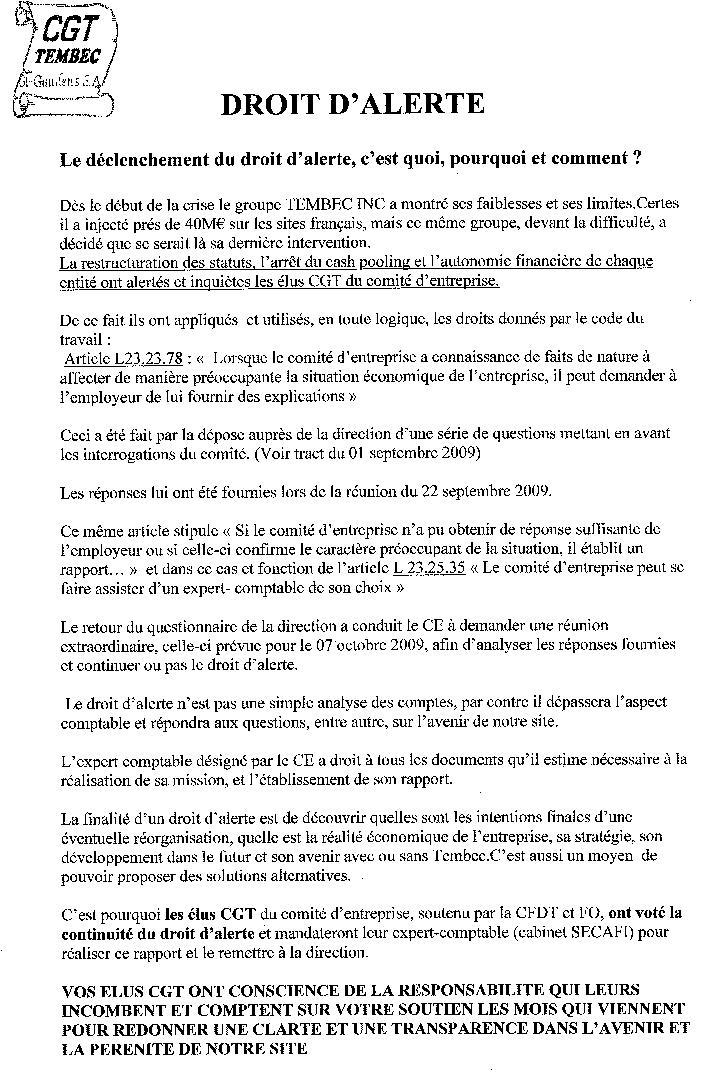 Archives Du Blog Droit D Alerte A Tembec